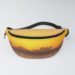 Tropical Sunset Reflecting On Ocean Surface Fanny Pack