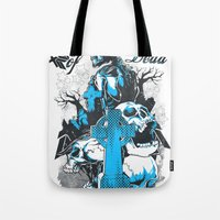 tomb raider Tote Bags featuring Tomb by Tshirt-Factory