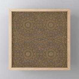 Moroccan Style Pattern Mandala Bronze  Framed Mini Art Print