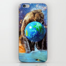 Give Planet Earth A Bear Hug! iPhone Skin