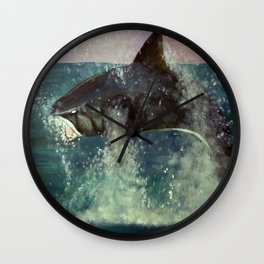 Shark Week Wall Clock