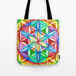 Shimmering Wheel - The Mandala Collection Tote Bag