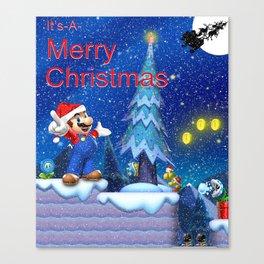 Mario Christmas #1 Canvas Print