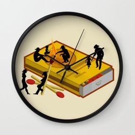 Matchbox Wildwest Campfire Wall Clock