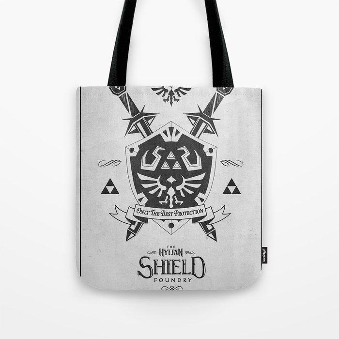 Legend of Zelda Hylian Shield Foundry logo Iconic Geek Line Artly Tote Bag