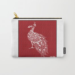 crimson peacock pavo real ecopop Carry-All Pouch
