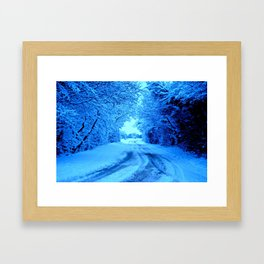 Winter in the Cotswolds Framed Art Print
