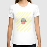 "french fries T-shirts featuring ""french"" fries by thellyttlestore"
