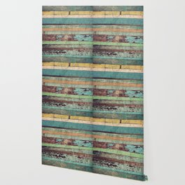 Wooden Vintage Wallpaper