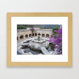 Antigua Guatemala Fountain Framed Art Print
