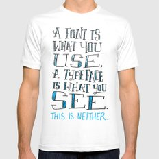 Fonts, Typefaces & Lettering Mens Fitted Tee White MEDIUM