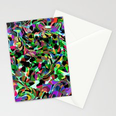 Abstract dance of hearts Stationery Cards