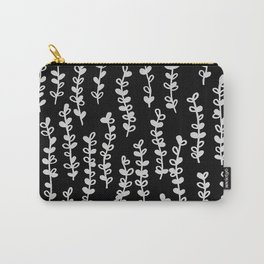 Vines on Black Carry-All Pouch