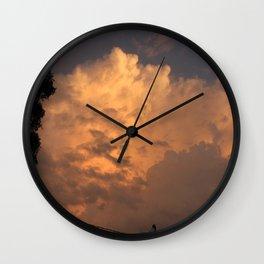 Orange Hue Wall Clock