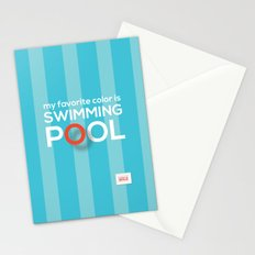 My favorite color is swimming pool Stationery Cards