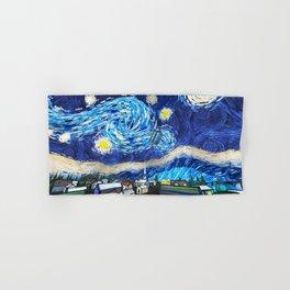 Tardis Art Starry City Night Hand & Bath Towel