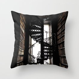 Trinity College Library Spiral Staircase Throw Pillow