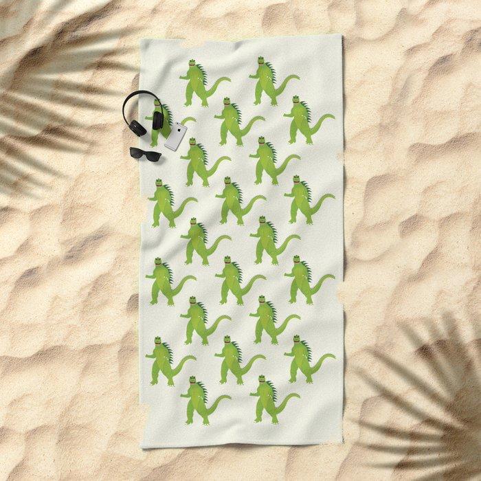Godzilla pattern Beach Towel