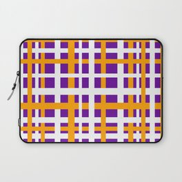 Purple & Orange Interlocking Stripes Laptop Sleeve
