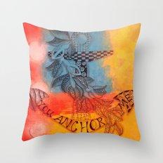 You Anchor Me zentangle anchor zendoodle doodle  Throw Pillow