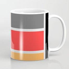 Mondrianista orange red black and gray Coffee Mug