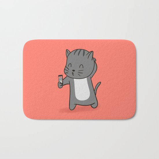 Selfie Kitty Bath Mat