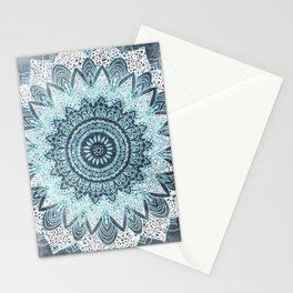 BOHOCHIC MANDALA IN BLUE Stationery Cards