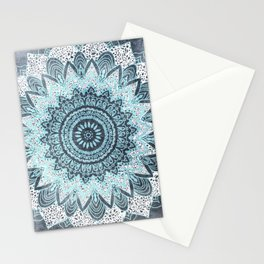 BOHOCHIC MANDALA IN BLUE Stationery Cards