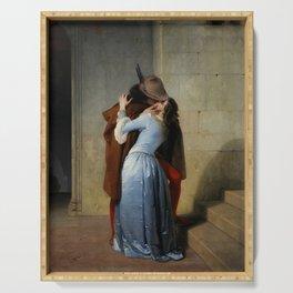 The Kiss (Il Bacio) - Francesco Hayez 1859 Serving Tray
