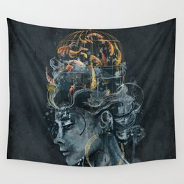 Dream in a Cage Wall Tapestry
