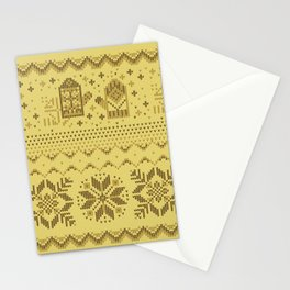 Christmas knitted pattern Stationery Cards
