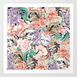 Because Sloths Watercolor Art Print