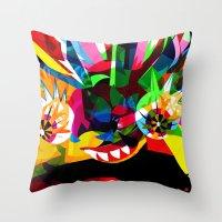 diablo Throw Pillows featuring diablo 2 by Alvaro Tapia Hidalgo