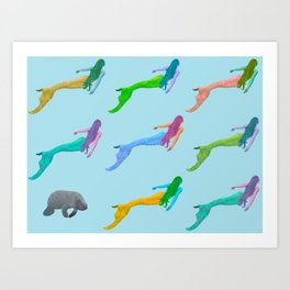 Be Your Kind of Mermaid Art Print