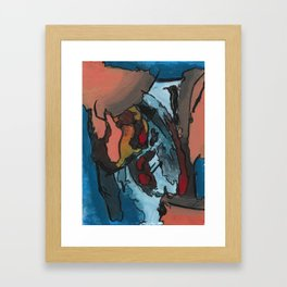 Over the Bluff Abstract Landscape Painting Framed Art Print