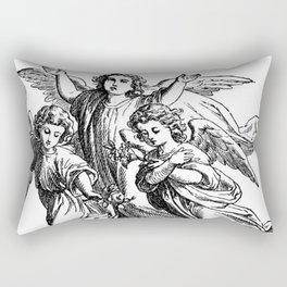 Cherubs | Angels | Three angels | Gothic Church | Gothic Decor Rectangular Pillow