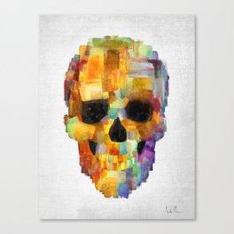 Skull Grunge Paint Canvas Print