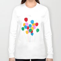 balloons Long Sleeve T-shirts featuring Balloons by pollucite