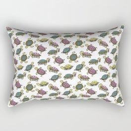 Turtles on the lake Rectangular Pillow