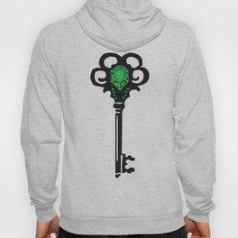 Emerald Key Printmaking Art Hoody
