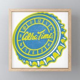 Vintage Alka-Time Soda Pop Bottle Cap Framed Mini Art Print