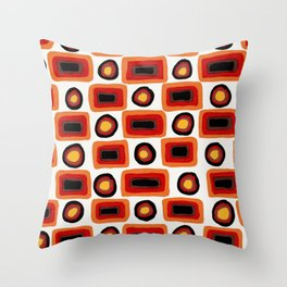 1970s africolor Throw Pillow