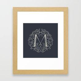 """""""M""""ONOGRAM Framed Art Print"""