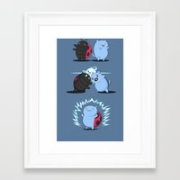 catbug Framed Art Prints featuring Fusion of a cat and a bug by FuManChou