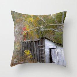 Smokehouse in Autumn Throw Pillow