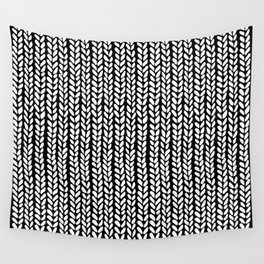 Knit Wave Black Wall Tapestry