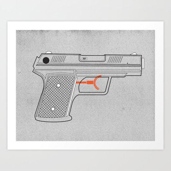 Water Gun Art Print