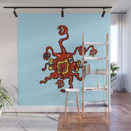 Are you ill? Check your Germs! Red Slurple Wall Mural