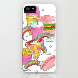 fast food heaven iPhone Case