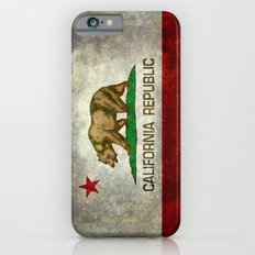 California Republic state flag Vintage Slim Case iPhone 6